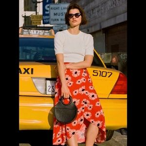 NWT Anthropologie Colloquial Daisy Wrap Skirt in M